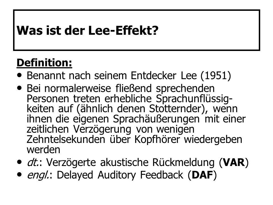Was ist der Lee-Effekt Definition: