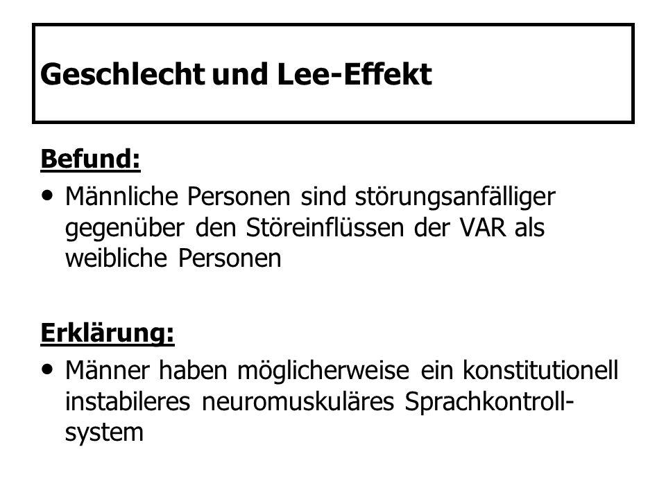 Geschlecht und Lee-Effekt