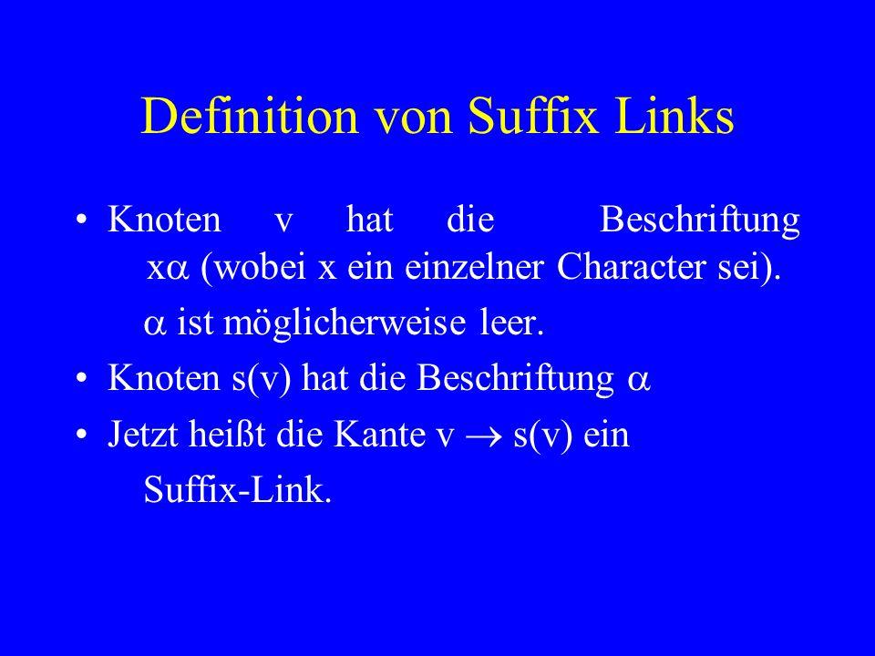 Definition von Suffix Links