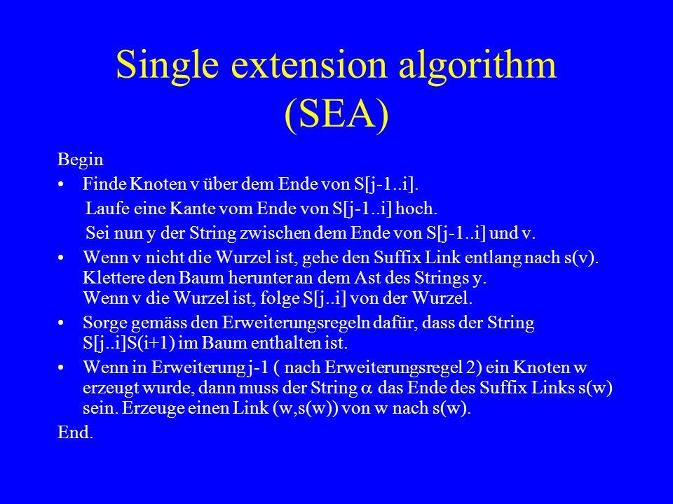 Single extension algorithm (SEA)