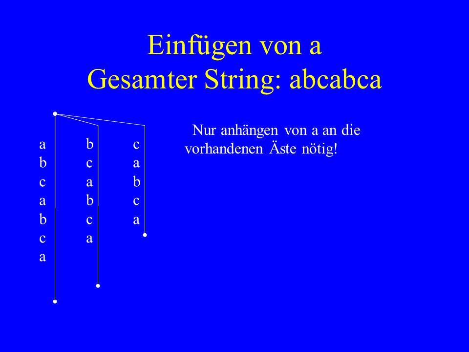 Einfügen von a Gesamter String: abcabca
