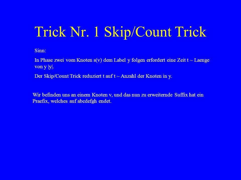 Trick Nr. 1 Skip/Count Trick