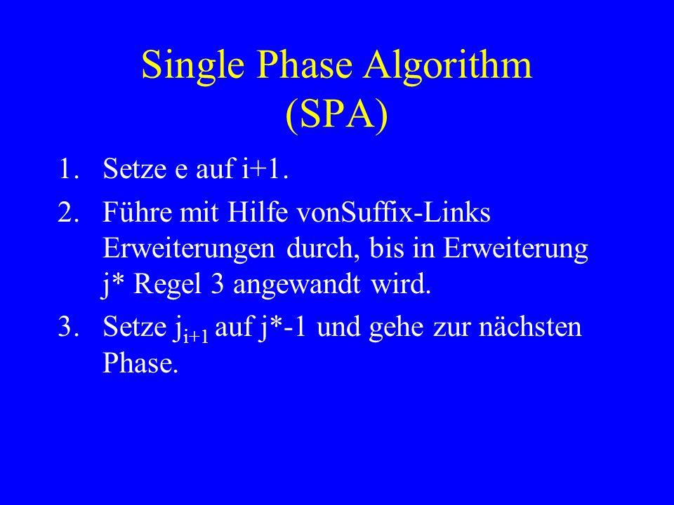 Single Phase Algorithm (SPA)