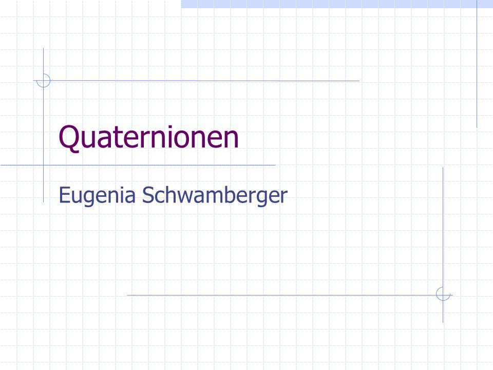 Quaternionen Eugenia Schwamberger