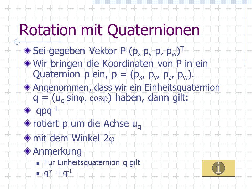 Rotation mit Quaternionen