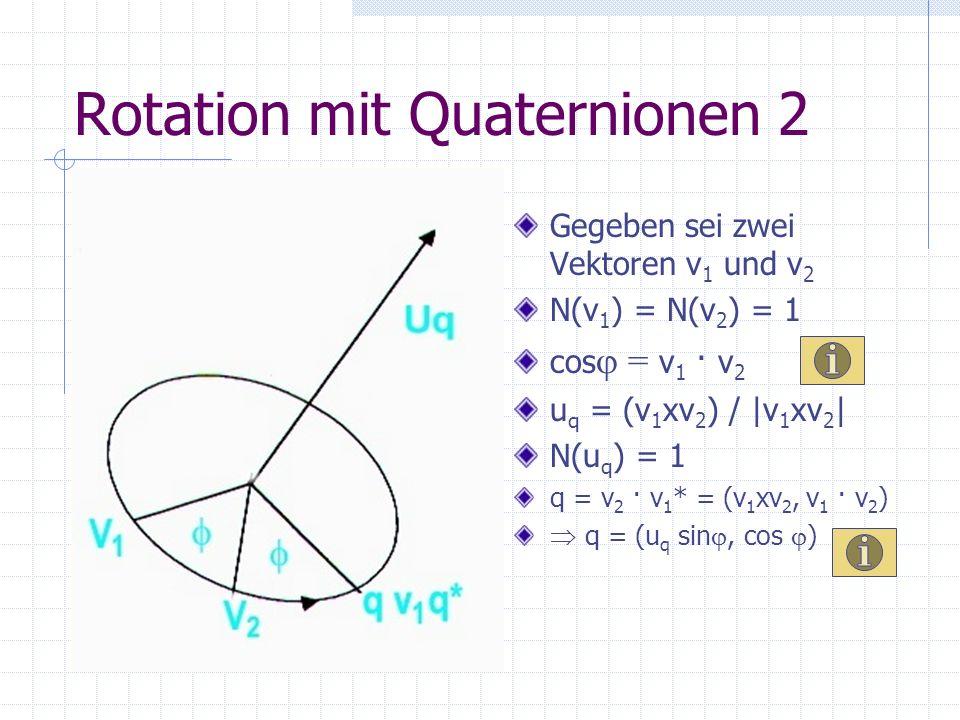 Rotation mit Quaternionen 2