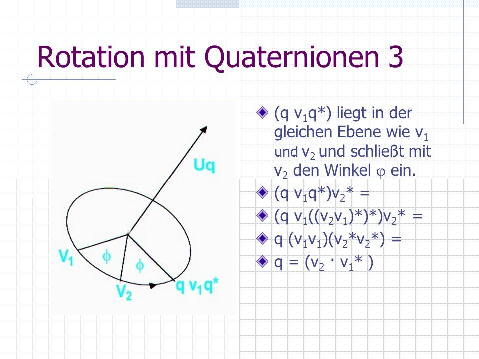 Rotation mit Quaternionen 3
