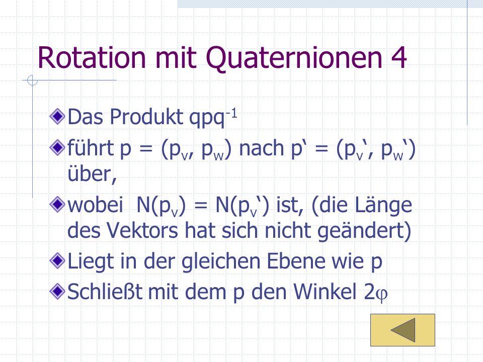 Rotation mit Quaternionen 4