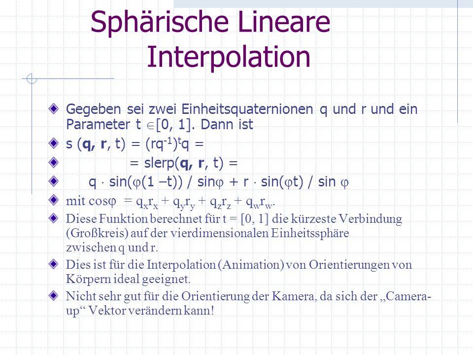 Sphärische Lineare Interpolation