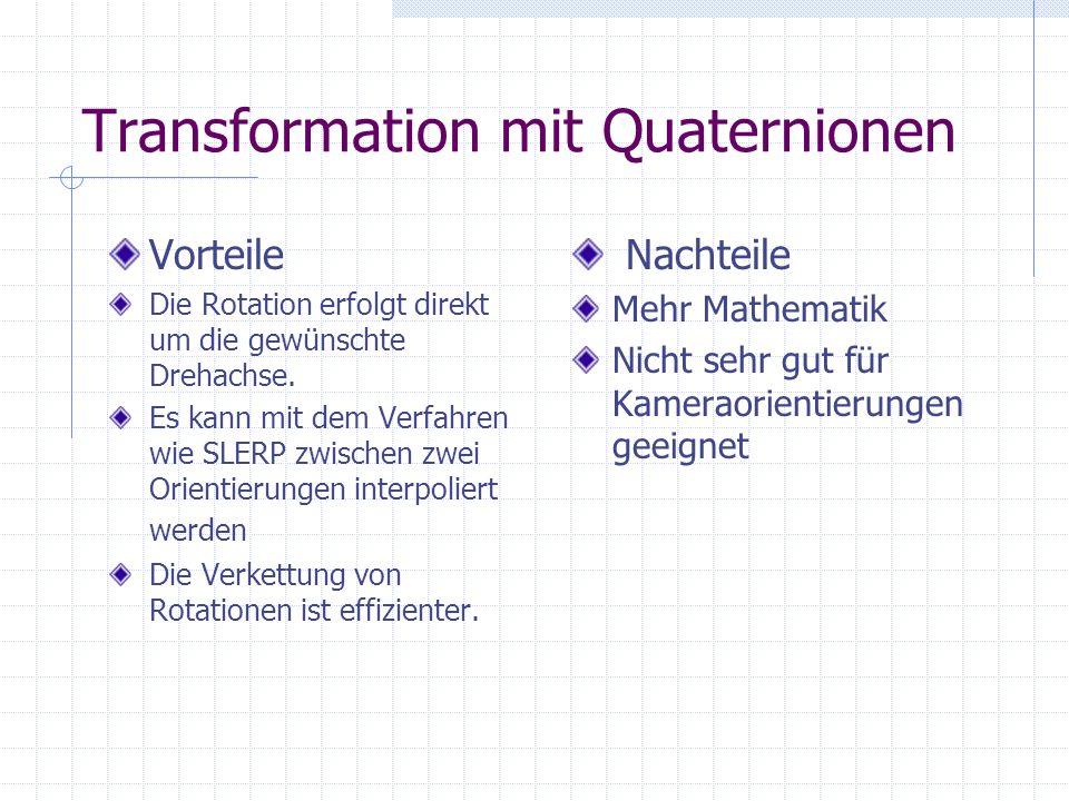 Transformation mit Quaternionen
