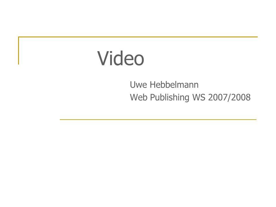 Uwe Hebbelmann Web Publishing WS 2007/2008