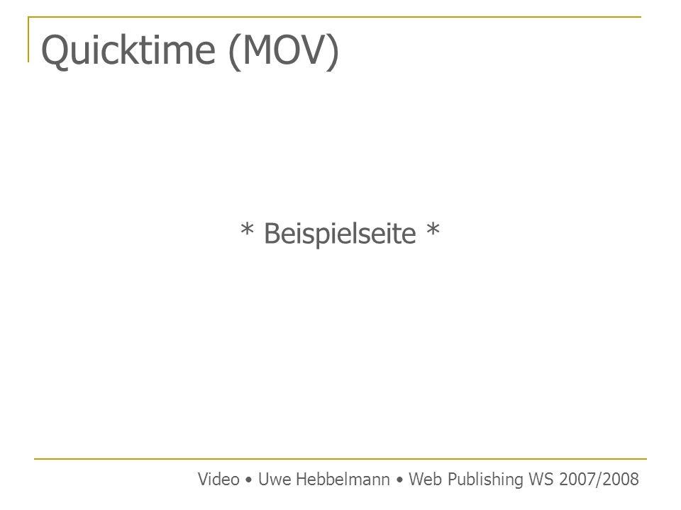 Quicktime (MOV) * Beispielseite *