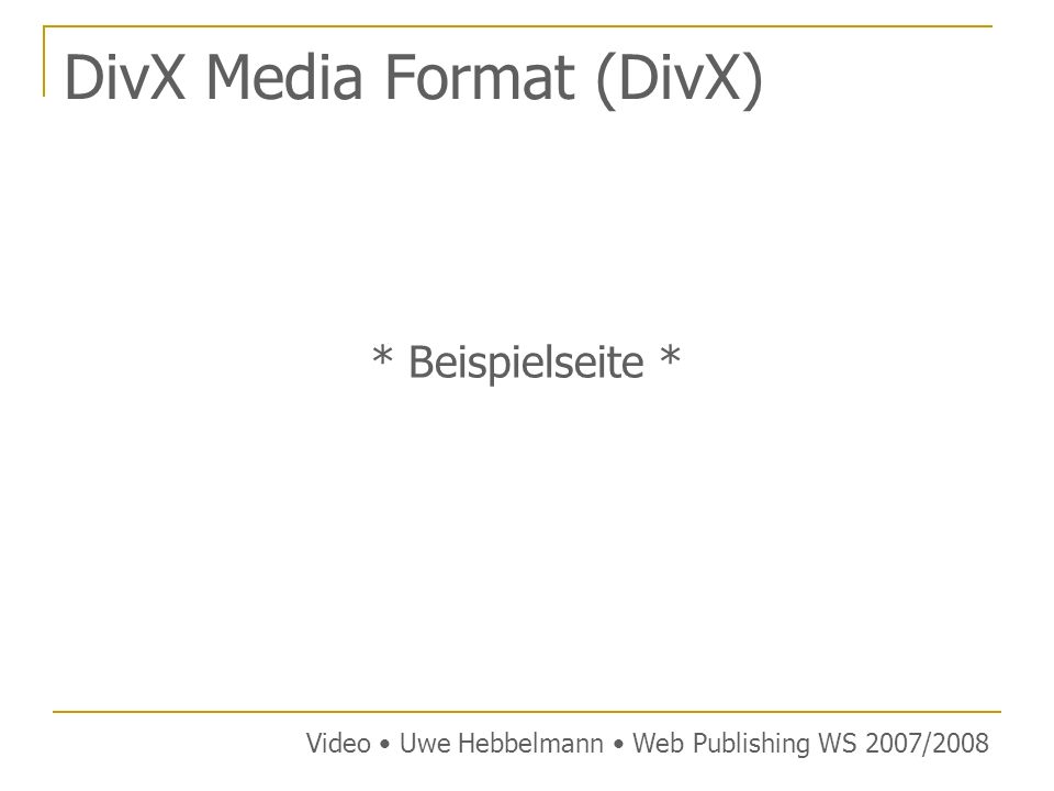 DivX Media Format (DivX)