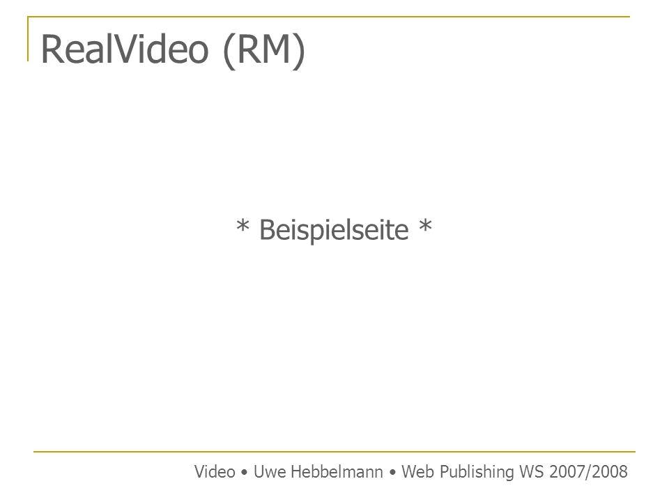 RealVideo (RM) * Beispielseite *