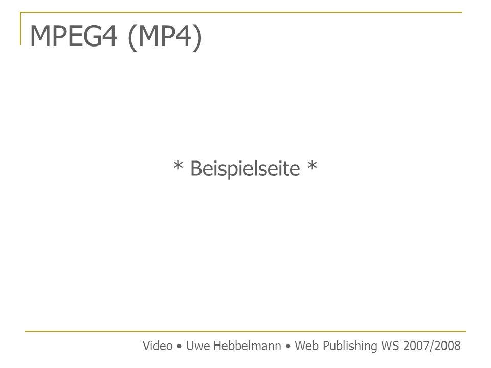 MPEG4 (MP4) * Beispielseite *
