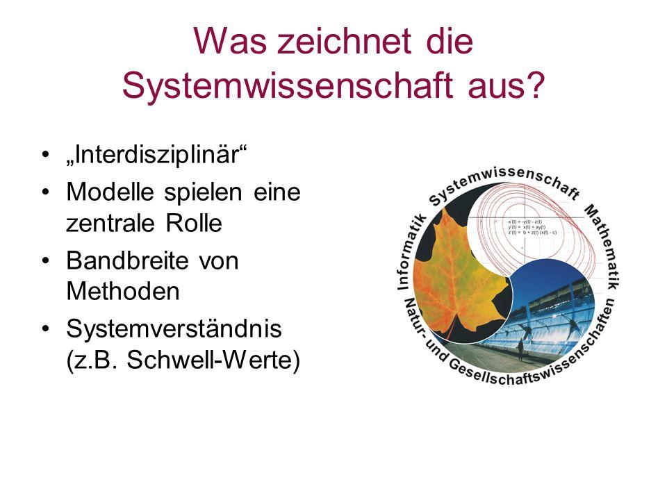 Was zeichnet die Systemwissenschaft aus