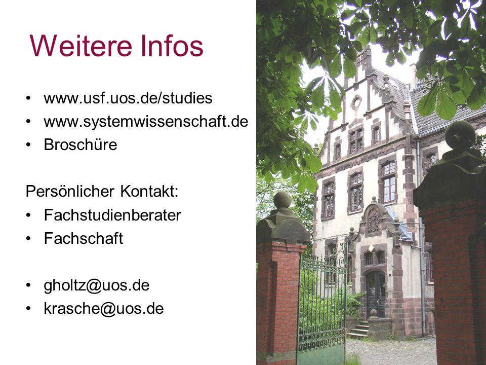 Weitere Infos www.usf.uos.de/studies www.systemwissenschaft.de