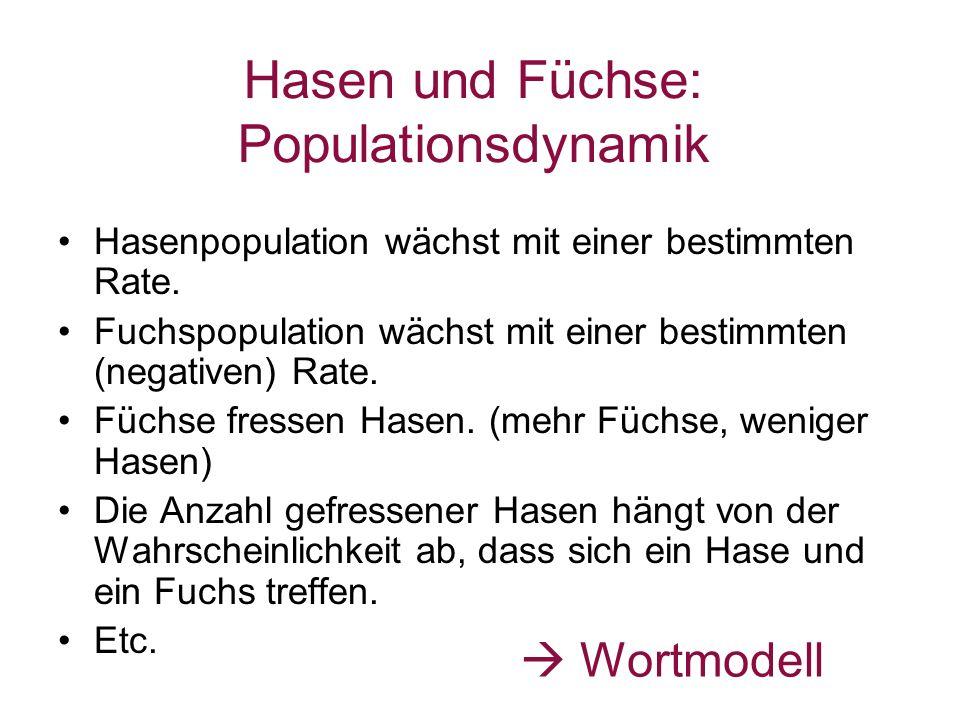 Hasen und Füchse: Populationsdynamik