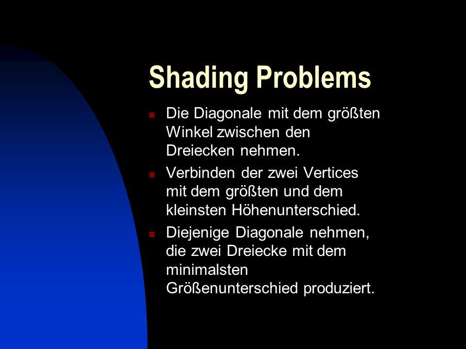 Shading Problems Die Diagonale mit dem größten Winkel zwischen den Dreiecken nehmen.