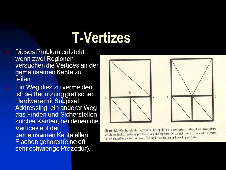 T-Vertizes Dieses Problem entsteht wenn zwei Regionen versuchen die Vertices an der gemeinsamen Kante zu teilen.