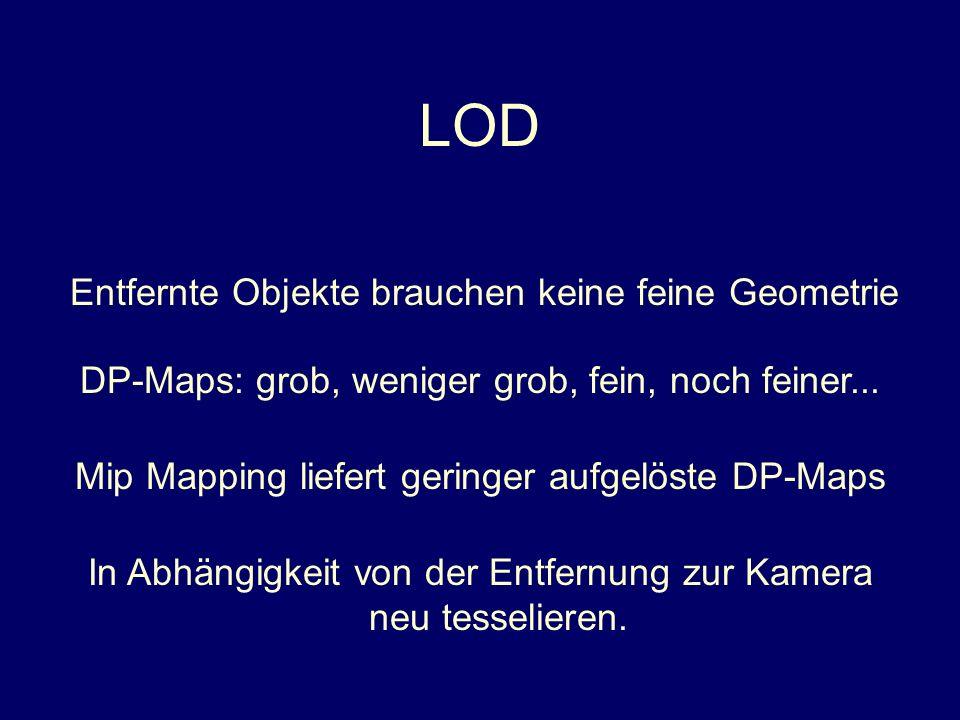 LOD Entfernte Objekte brauchen keine feine Geometrie