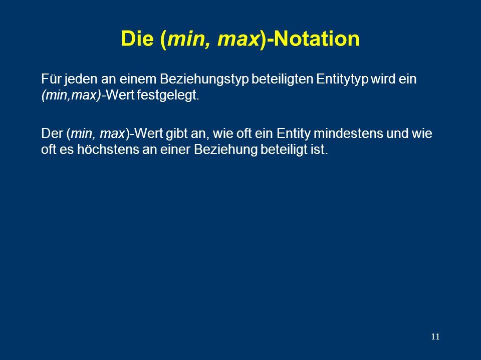 Die (min, max)-Notation