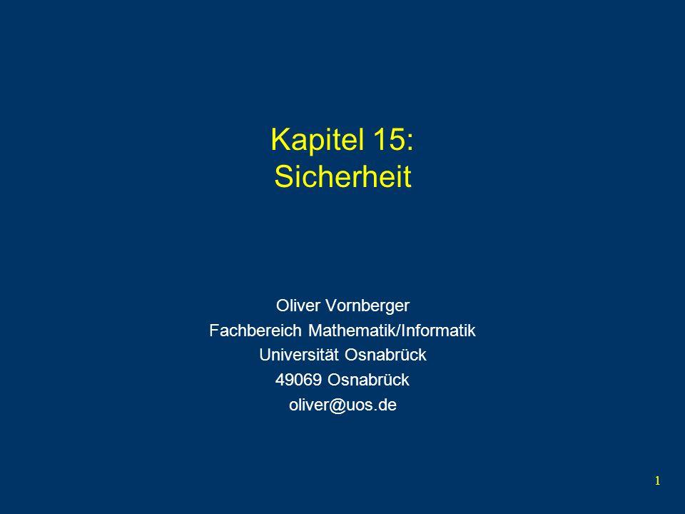 Kapitel 15: Sicherheit Oliver Vornberger