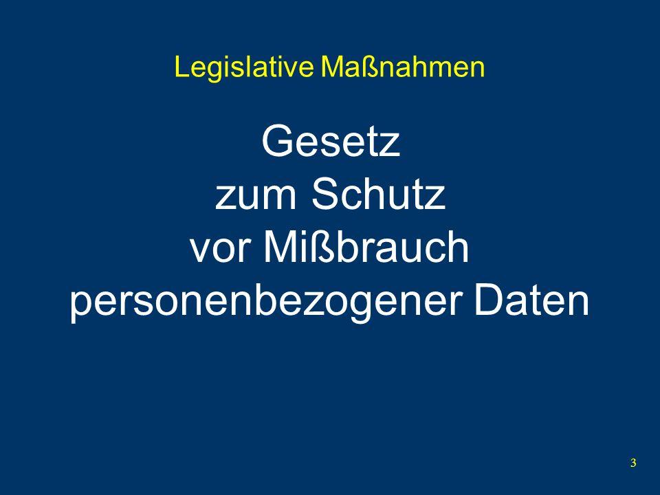 Legislative Maßnahmen