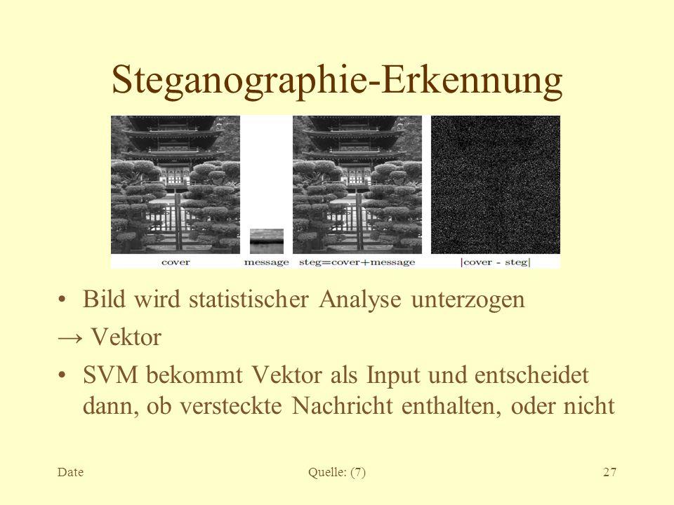 Steganographie-Erkennung