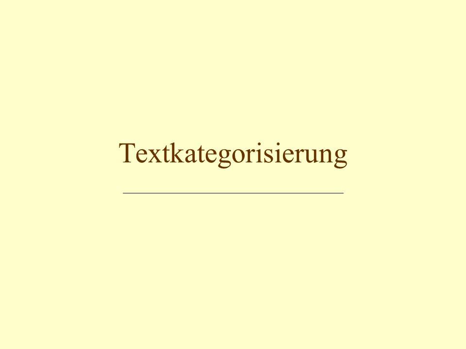 Textkategorisierung