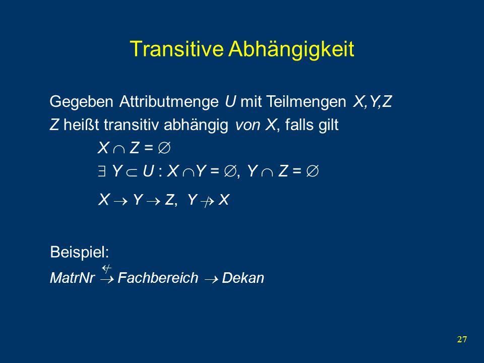 Transitive Abhängigkeit