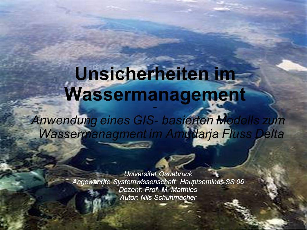 Unsicherheiten im Wassermanagement