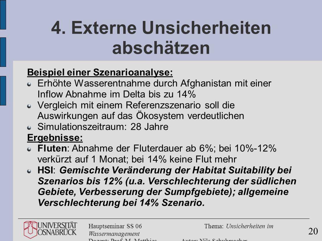 4. Externe Unsicherheiten abschätzen