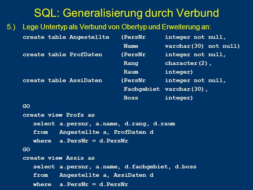 SQL: Generalisierung durch Verbund