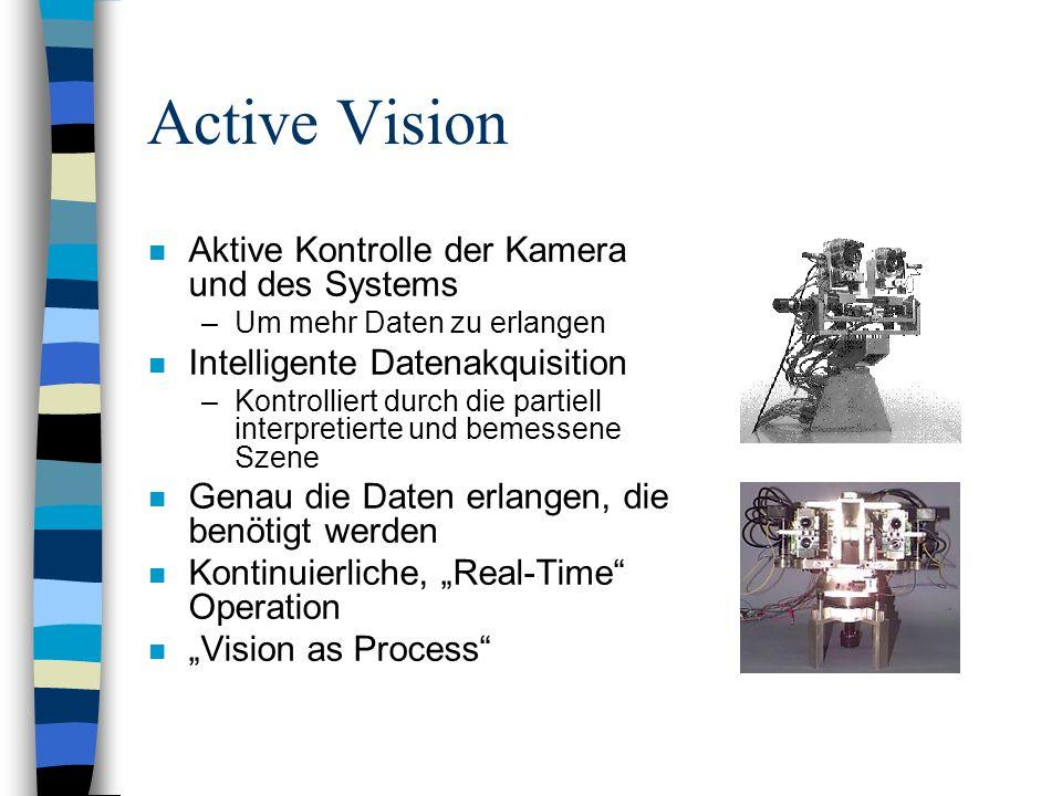 Active Vision Aktive Kontrolle der Kamera und des Systems