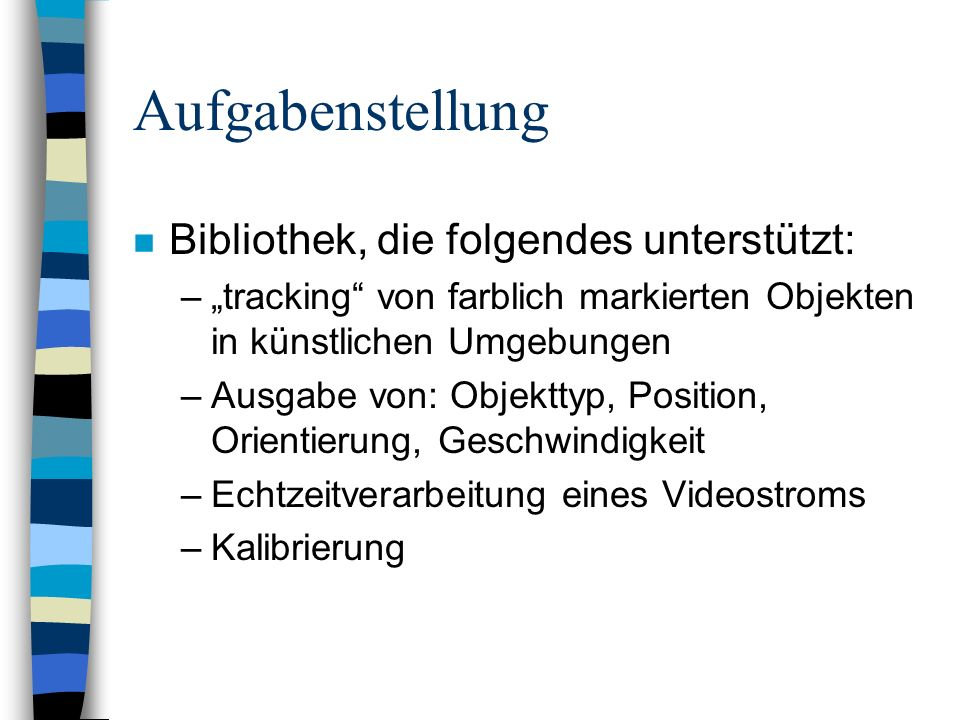 Aufgabenstellung Bibliothek, die folgendes unterstützt: