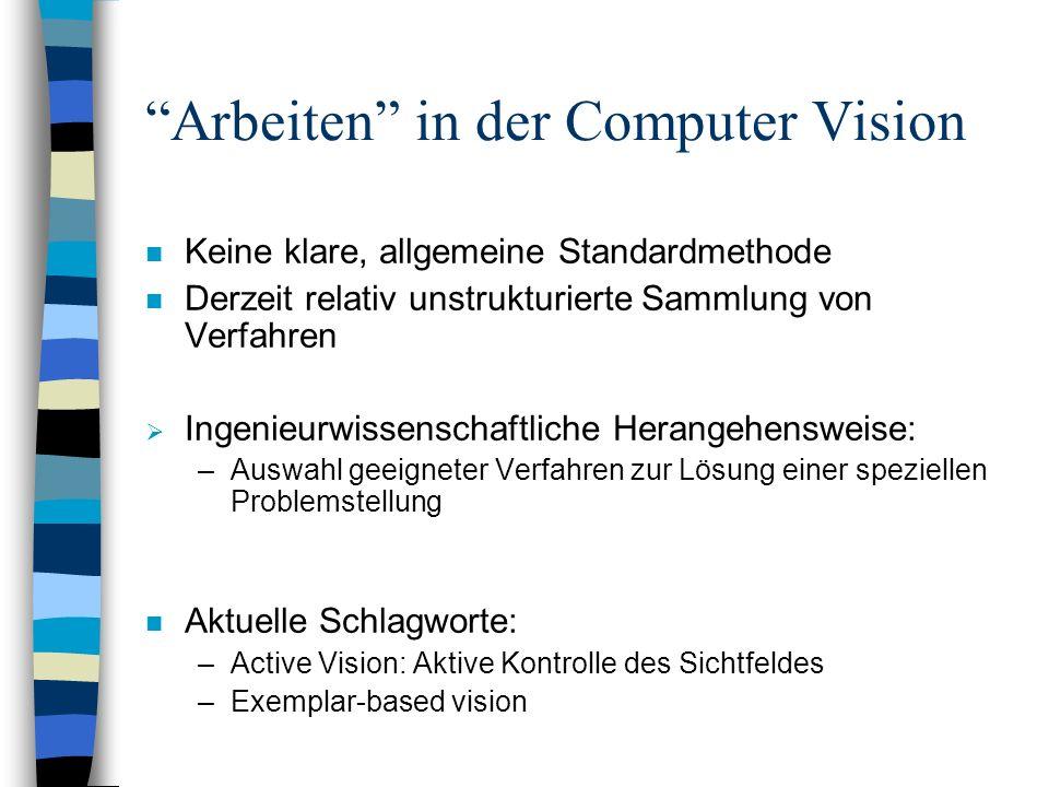 Arbeiten in der Computer Vision