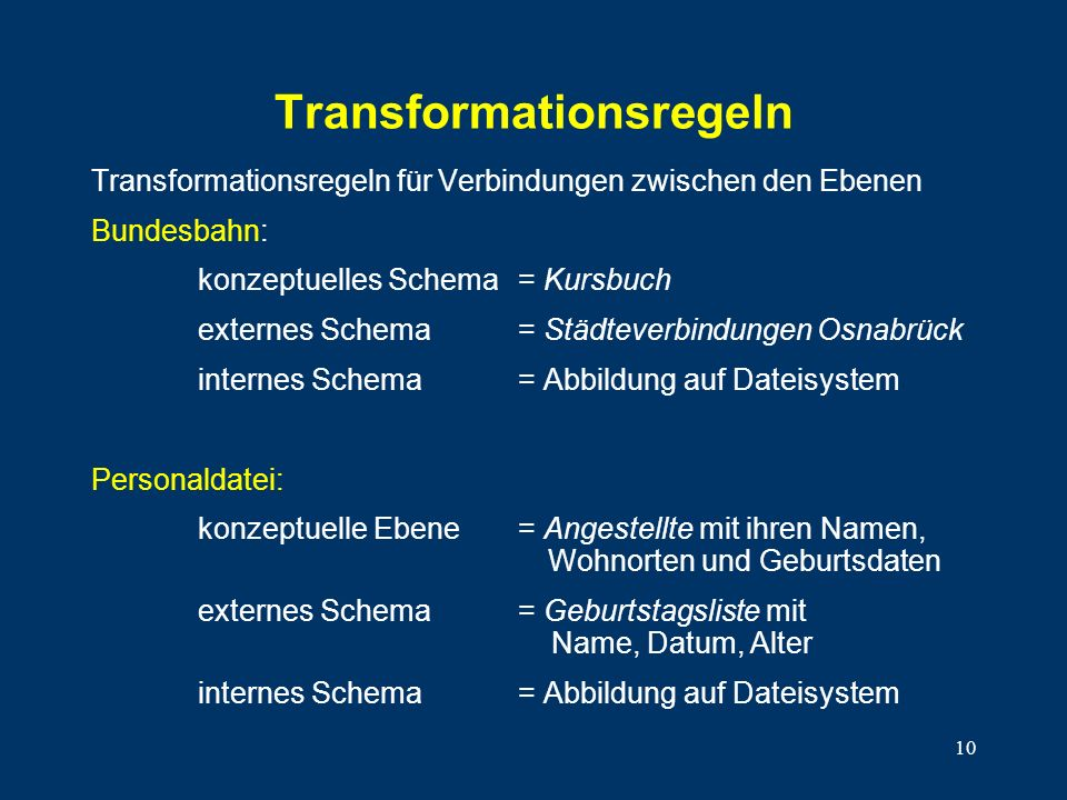 Transformationsregeln