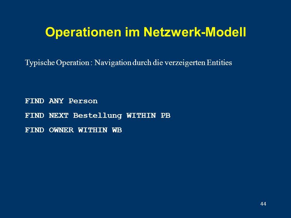 Operationen im Netzwerk-Modell