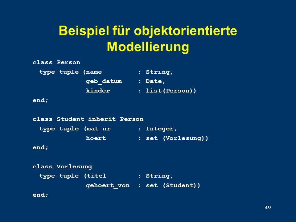 Beispiel für objektorientierte Modellierung