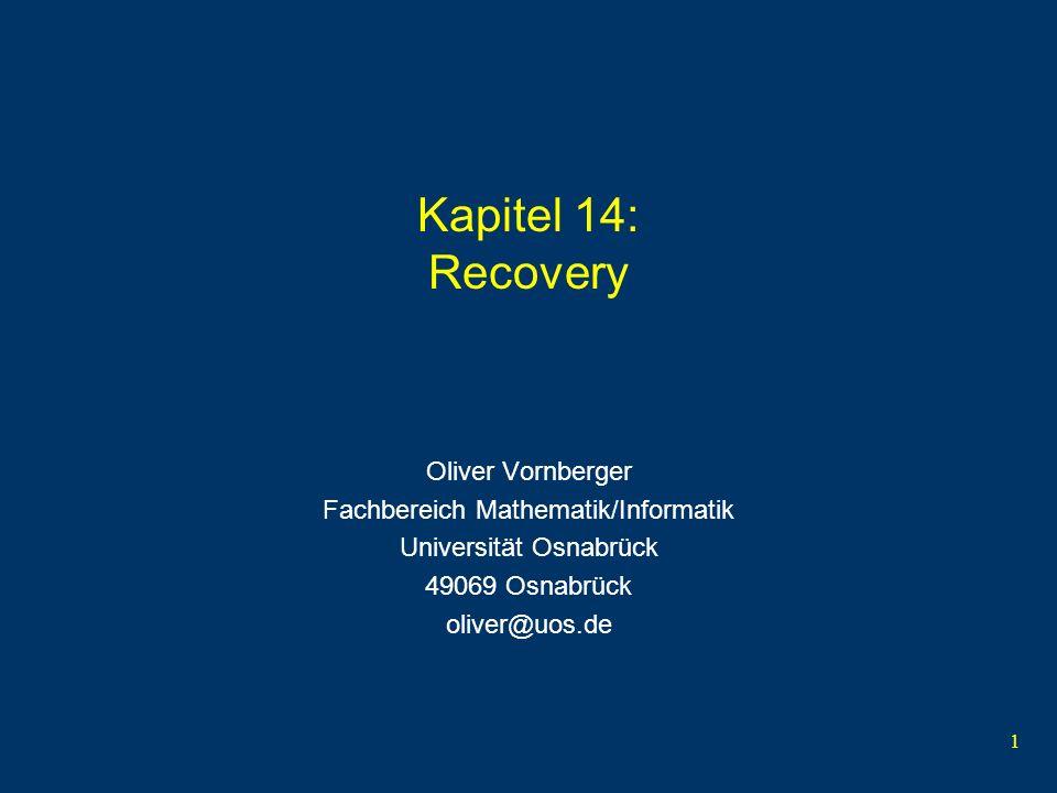 Kapitel 14: Recovery Oliver Vornberger