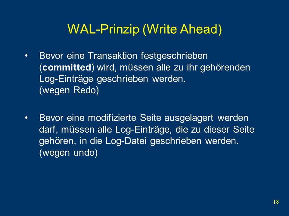 WAL-Prinzip (Write Ahead)