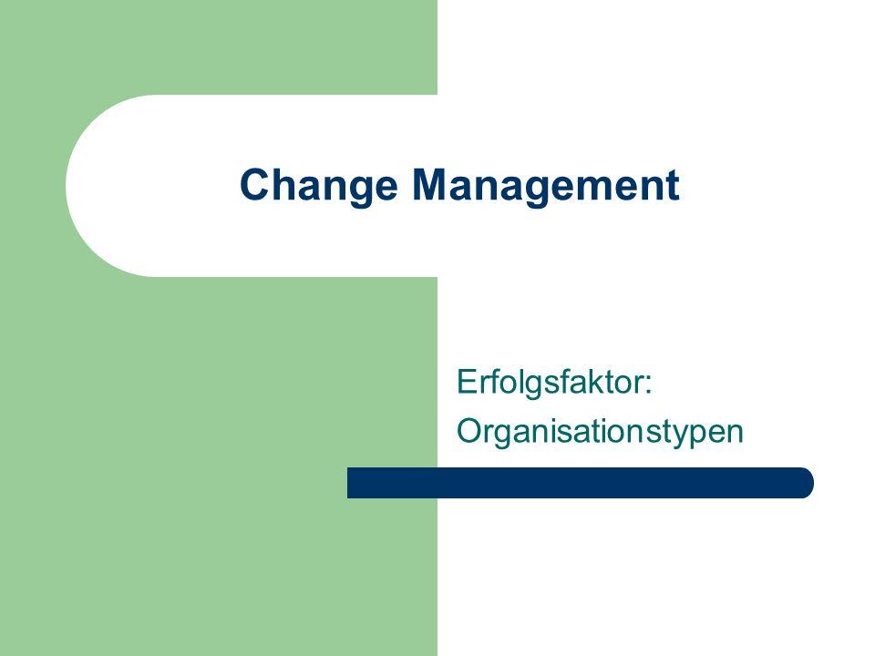 Erfolgsfaktor: Organisationstypen