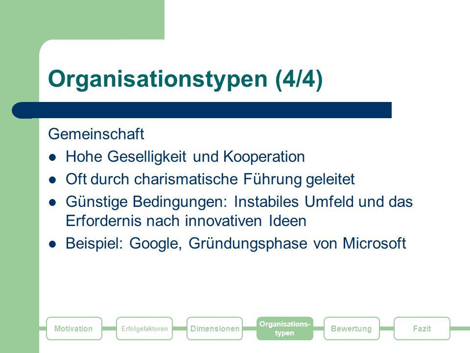 Organisationstypen (4/4)