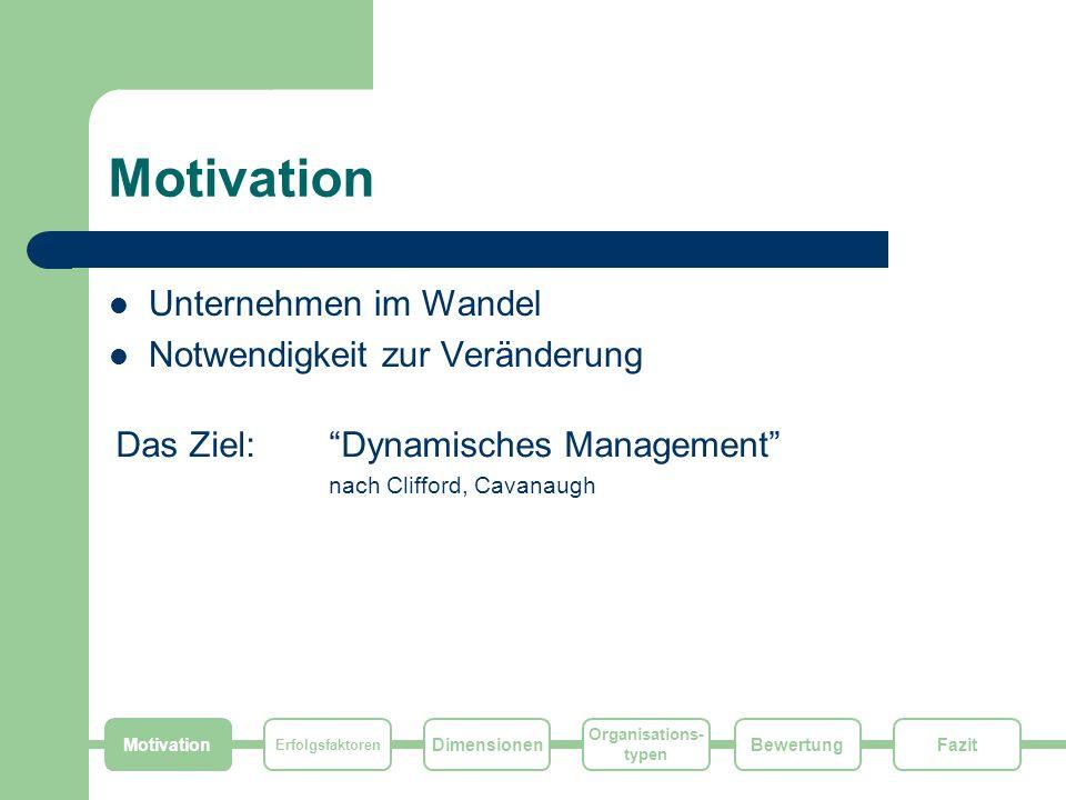 Motivation Unternehmen im Wandel Notwendigkeit zur Veränderung