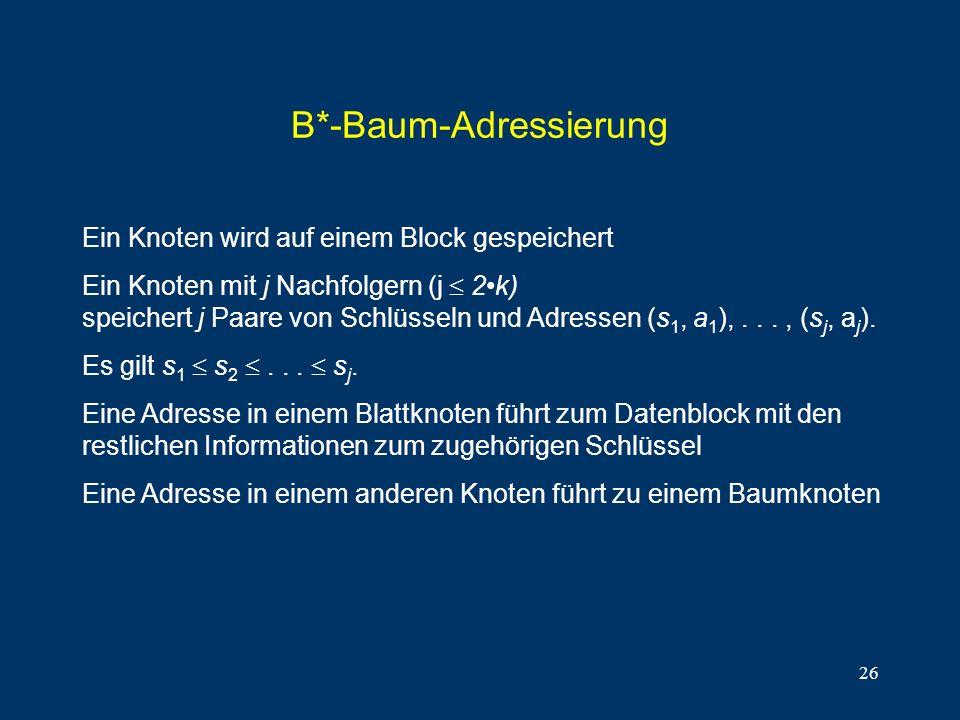 B*-Baum-Adressierung