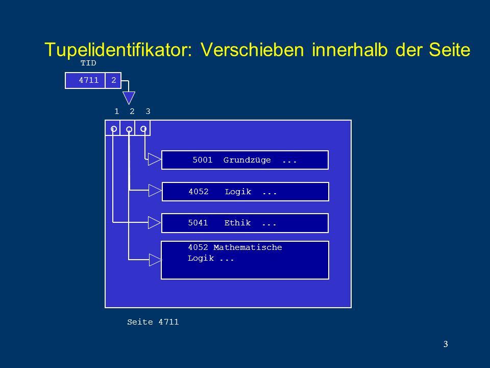 Tupelidentifikator: Verschieben innerhalb der Seite