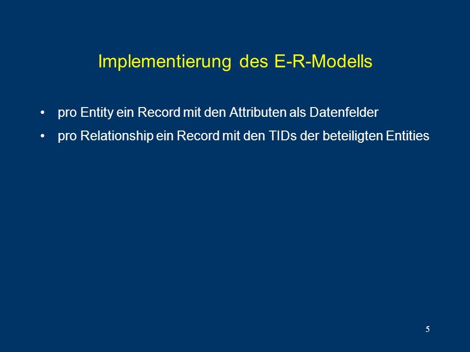 Implementierung des E-R-Modells