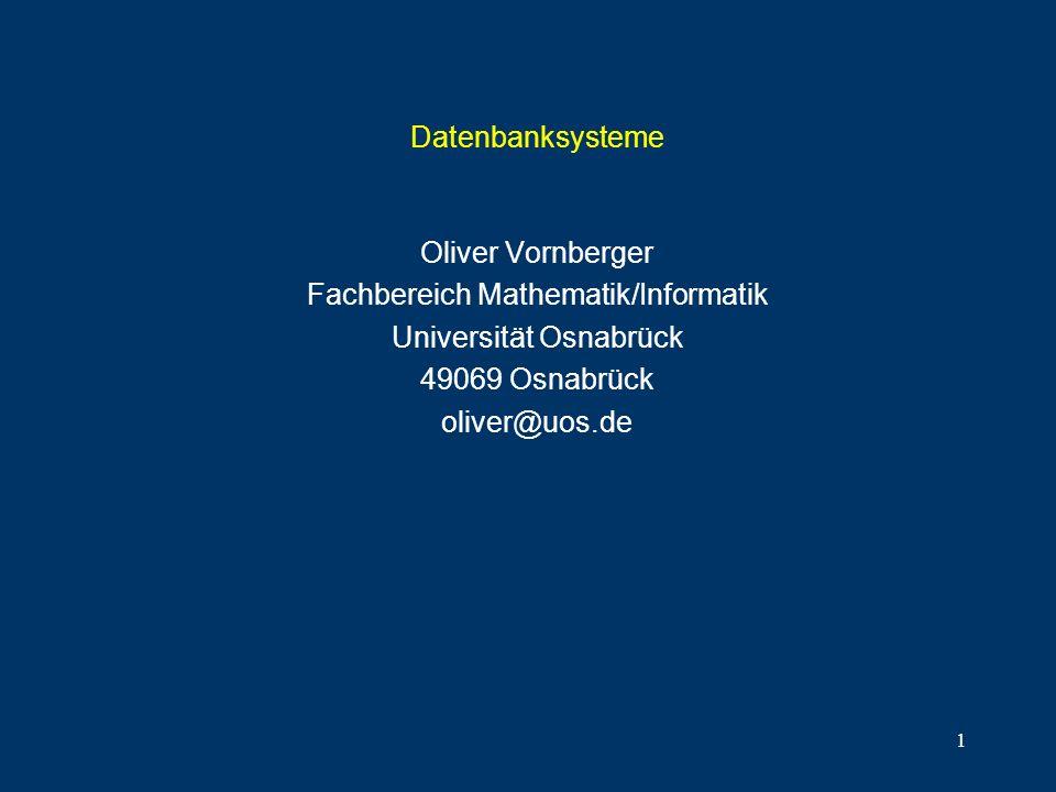 Fachbereich Mathematik/Informatik Universität Osnabrück