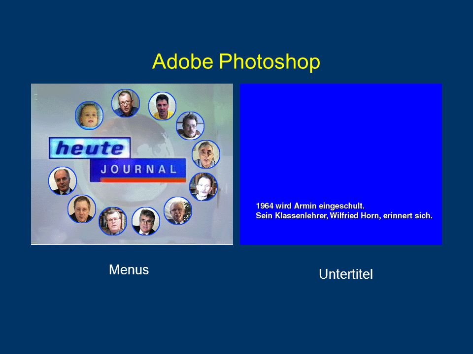 Adobe Photoshop Menus Untertitel